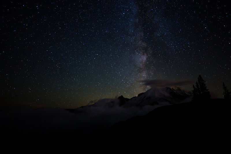 Milky Light.  The Milky Way over Mt. Rainier.  It's been years since I've seen it so brilliantly displayed.