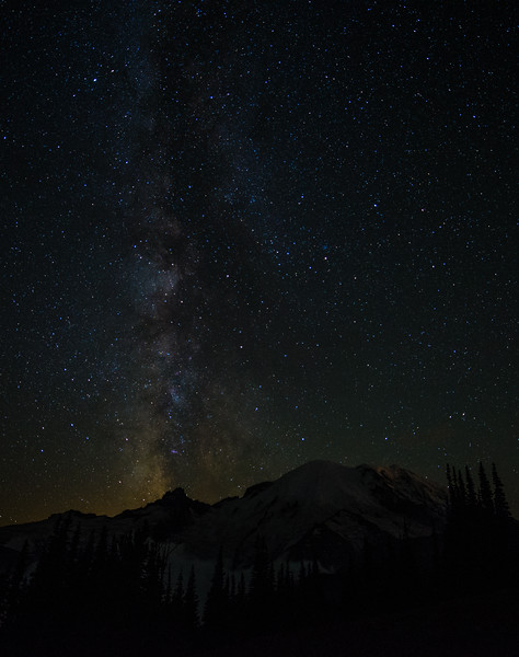 Milky Summit.  The Milky Way over Mt. Rainier, taken from the Sourdough Ridge trail above Sunrise lodge on Mt. Rainier.  I am excited about this shot since it is the only one with a cloud free summit.