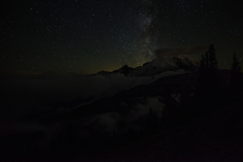Milky Mount.  As staggering as the Milky Way was that night, the low clouds blowing through the valley were equally amazing to see.