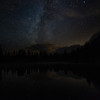 The Milky Way over Tipsoo Lake.